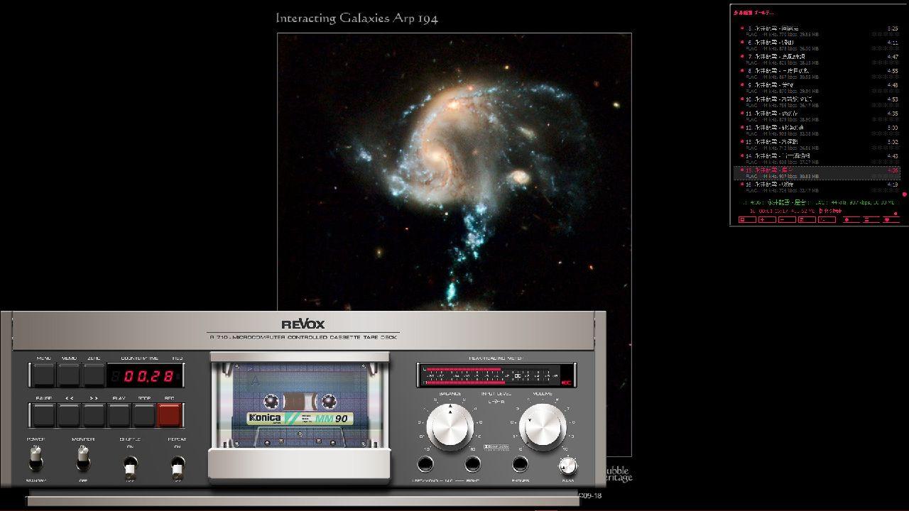 音楽プレーヤソフト AIMPはおじさんの味方!音もいいがスキンは昔のステレオコンポを思い出させる