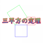 三平方の定理がひと目で分かる展示が面白い